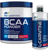 Mysupplement Bcaa Powder 560 gr+Mysupplement L-Carnitine