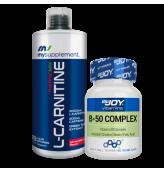 Bigjoy Vitamins B 50 Complex+Mysupplement L-Carnitine