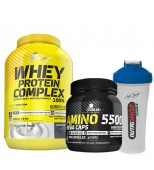 Olimp Whey Protein Complex 2200gr + Amino 5500 + Shaker