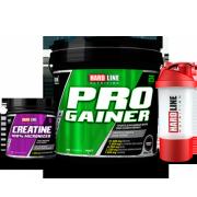 Hardline Progainer 5000gr + Kreatin 300gr + Shaker