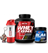 Hardline Whey Zone 2300 gr + Hardline BCAA 500 gr + Anahtarlık + Shaker