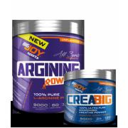 Bigjoy Sports Arginine Powder 300gr - Creabig Powder 120g Hediyeli
