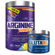 Bigjoy Sports Arginine Powder 500g - Glutabig Powder 120g Hediyeli