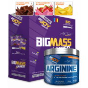 Bigjoy Sports BIGMASS Gainer Mix-2 5000g - Arginine Powder Aromasız 120g Hediyeli