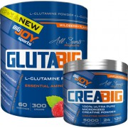 Bigjoy Sports Glutabig Powder 300g - Creabig Powder Aromasız 120g Hediyeli