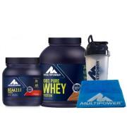 Multipower %100 Pure Whey Protein 2000gr + BCAA Powder 2:1:1 400gr + Professional Shaker + Havlu