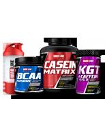 Hardline Casein Matrix + KGT + BCAA Fusion + Shaker