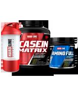 Hardline Casein Matrix + Amino Full + Shaker
