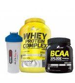 Olimp Whey Protein Complex 2200gr + Olimp BCAA Xplode + Shaker