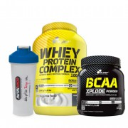 Olimp Whey Protein Complex 2200gr + Olimp BCAA Xplode + Shaker