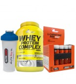 Olimp Whey Protein Complex 2200gr + Olimp L-Carnitine shot + Shaker