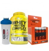 Olimp Whey Protein Complex 2200gr + Olimp L-Carnitine shot + Shaker