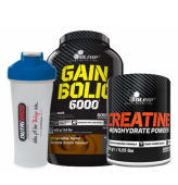 Olimp Gain Bolic 6000 4000gr + Olimp Creatine 250 gr + Shaker