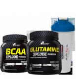 Olimp Glutamine Xplode + Olimp BCAA Xplode + Shaker