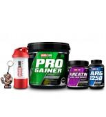 Progainer 5000gr + Kreatine Mikronize 300gr + ARG1250 + Shaker + Anahtarlık