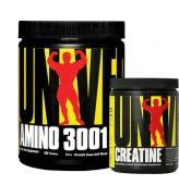 Universal Amino 3001 160 Tablet  + Creatine Powder 120 gr