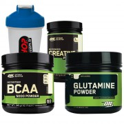 Optimum BCAA 5000 +  Glutamine + Creatine + Shaker