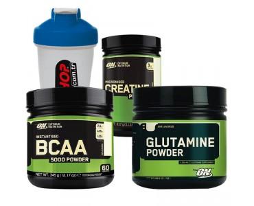 Optimum BCAA 5000 +  Glutamine + Creatine + Shaker