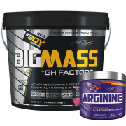 Bigmass Gainer GH FACTORS Çilek 5kg + Arginine 120g HEDİYE