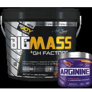 Bigmass Gainer GH FACTORS Çikolata 5kg + Arginine 120g HEDİYE