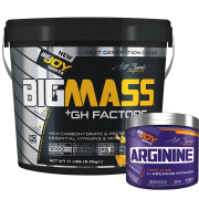 Bigmass Gainer GH FACTORS Muz 5kg + Arginine 120g HEDİYE