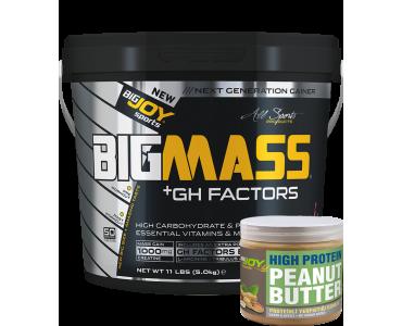 Bigmass GH FACTORS Çilek (5000 gr) + Fıstık ezmesi hediyeli