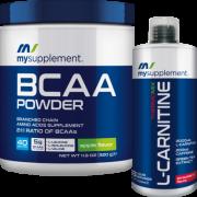 Mysupplement Bcaa Powder Elma 320 gr + Mysupplement L-Carnitine Çilek 1000ml