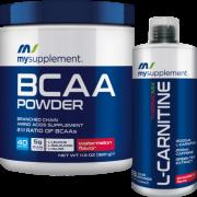 Mysupplement Bcaa Powder Karpuz 320gr  + Mysupplement L-Carnitine Çilek 1000ml