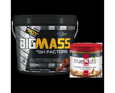 Bigmass GH Factors Çikolata+Truenuts Crunchy Fıstık Ezmesi 340g