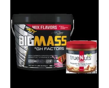 Bigmass GH Factors Mix  Aroma+Truenuts Crunchy Fıstık Ezmesi 340g