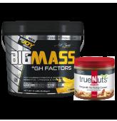 Bigmass GH Factors Muz+Truenuts Crunchy Fıstık Ezmesi 340g