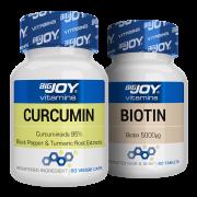 Bigjoy Vitamins Curcumin + Biotin