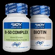 Bigjoy Vitamins Biotin + B-50 Complex