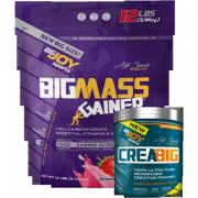 Bigmass Gainer 5440gr Çilek + Creabig Powder 300 gr + Bigjoy shaker