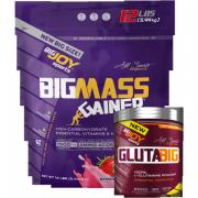 Bigmass Gainer 5440gr Çilek + Glutabig Powder 300 gr + Bigjoy shaker