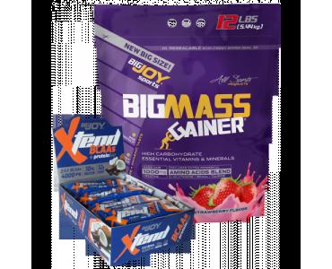 BigJoy Sports BigMass Gainer 5440 gr + 12 adet Xtend Protein Bar Hediye