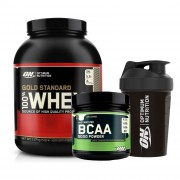 Optimum Gold Whey 2273gr + Optimum BCAA 345gr + Shaker