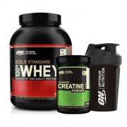 Optimum Gold Whey 2273gr + Optimum Creatine 317gr + Shaker