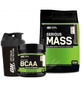 Optimum Serious Mass 5450gr + Optimum BCAA 345gr + Shaker