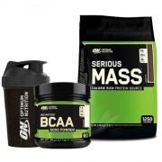 Optimum Serious Mass 5450gr + Optimum BCAA 345gr + Shaker