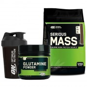 Optimum Serious Mass 5450gr + Optimum Glutamine 630gr + Shaker