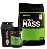 Optimum Serious Mass 5450gr + Optimum Creatine 317gr + Shaker
