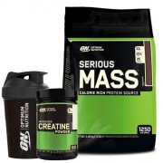 Optimum Serious Mass 5450gr + Optimum Creatine 317gr + Shaker
